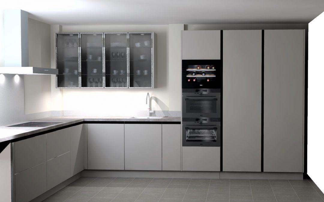 Sjieke hoek-keuken in Nijkerkerveen
