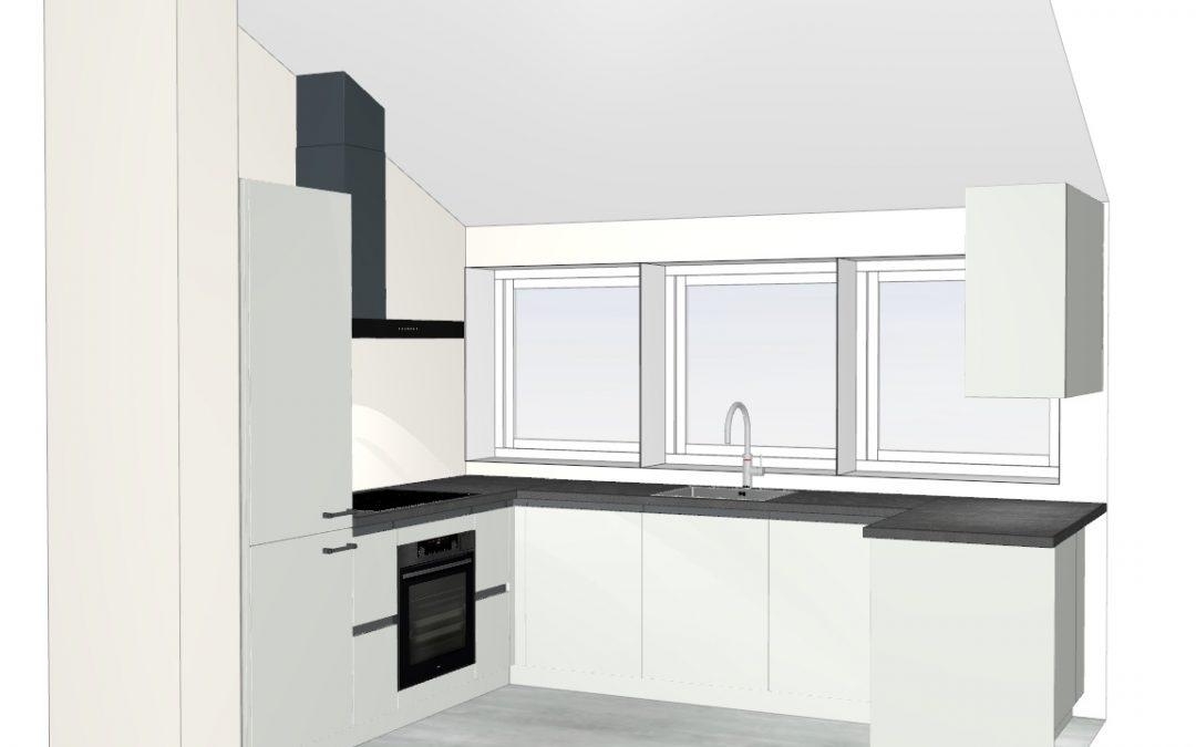 Ruime moderne u-keuken in Vathorst, Amersfoort