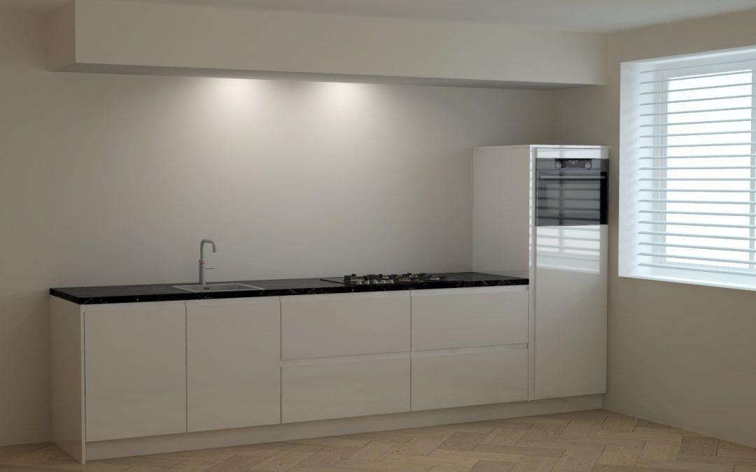 Moderne keuken in appartement te Amersfoort